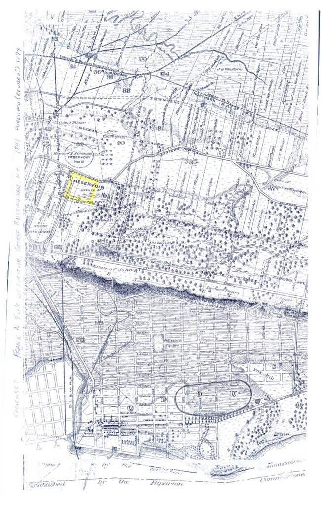 Geographical survey of Jersey City Heights from 1841