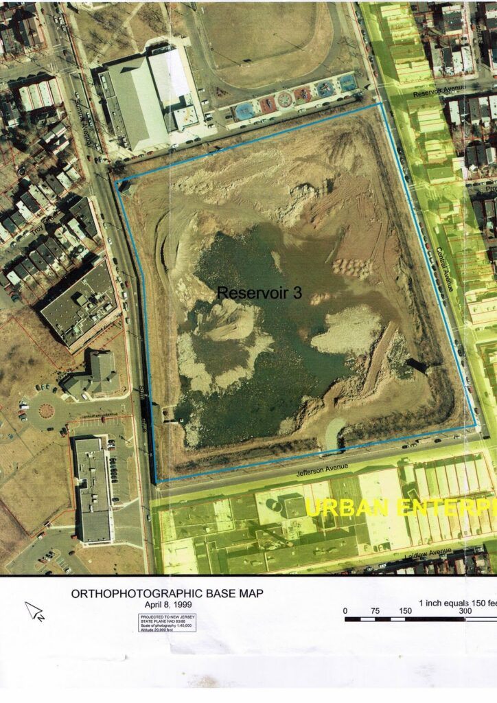 Aerial photograph of the reservoir taken in 1999